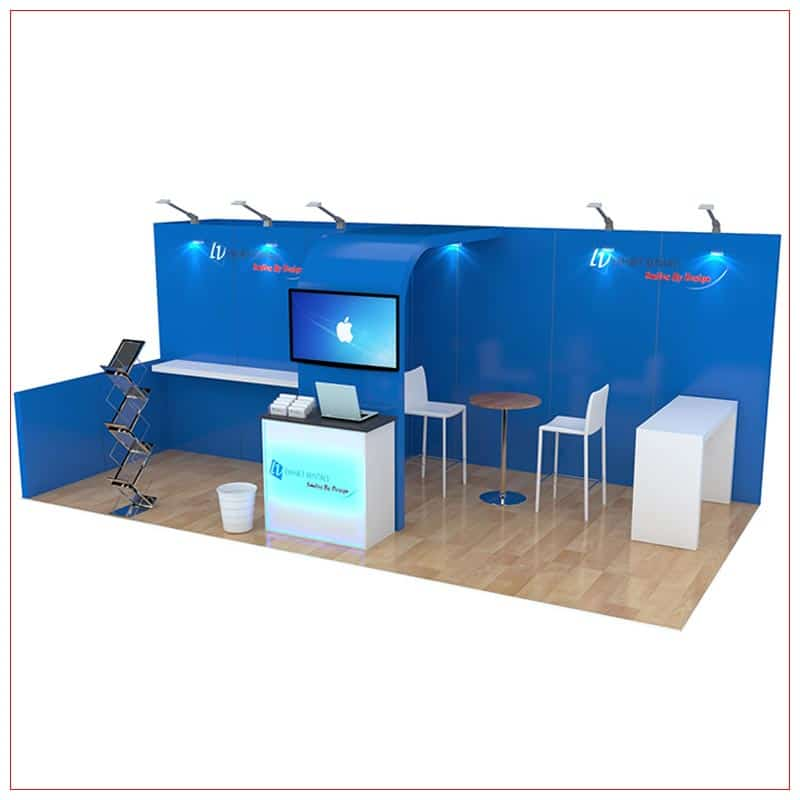 10x20 Trade Show Booth Rental Package 250 - Angle View - LV Exhibit Rentals in Las Vegas