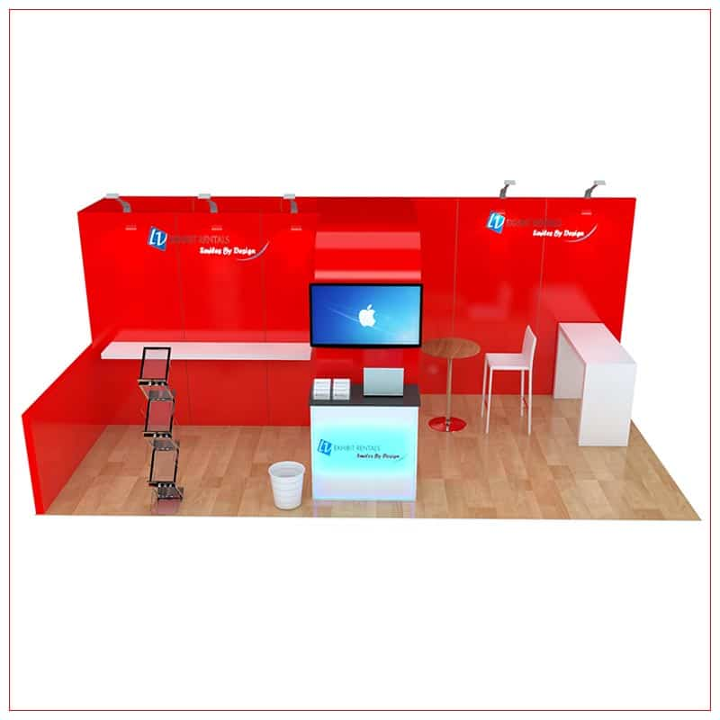 10x20 Trade Show Booth Rental Package 250 - Front View - LV Exhibit Rentals in Las Vegas