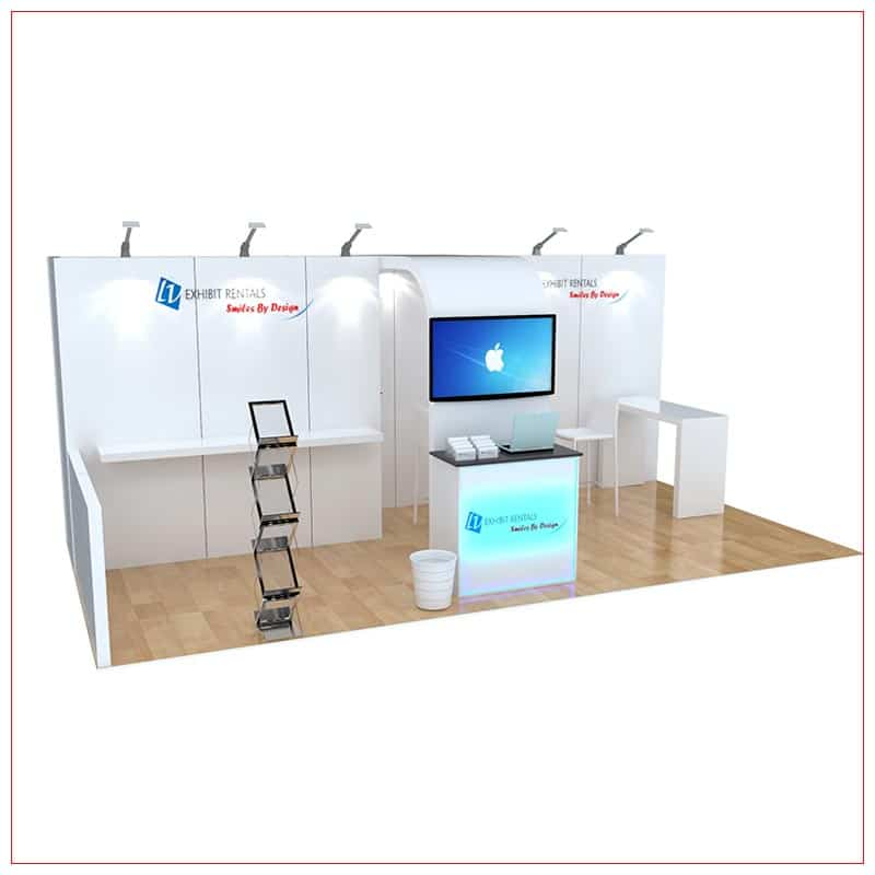 10x20 Trade Show Booth Rental Package 250 - LV Exhibit Rentals in Las Vegas