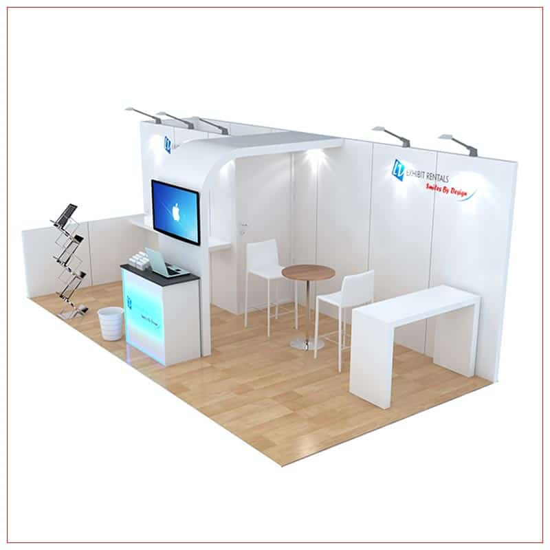 10x20 Trade Show Booth Rental Package 250 - Side View - LV Exhibit Rentals in Las Vegas