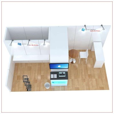 10x20 Trade Show Booth Rental Package 250 - Top-Down View - LV Exhibit Rentals in Las Vegas