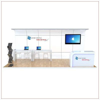 10x20 Trade Show Booth Rental Package 251 - Front View - LV Exhibit Rentals in Las Vegas