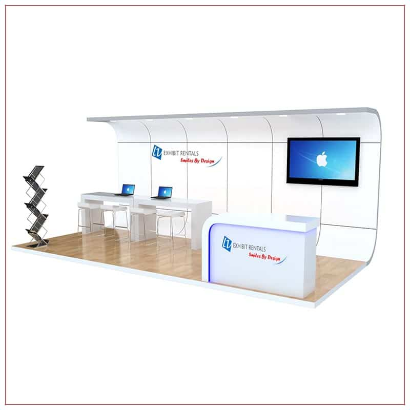 10x20 Trade Show Booth Rental Package 251 - LV Exhibit Rentals in Las Vegas
