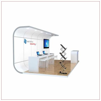 10x20 Trade Show Booth Rental Package 251 - Side View - LV Exhibit Rentals in Las Vegas