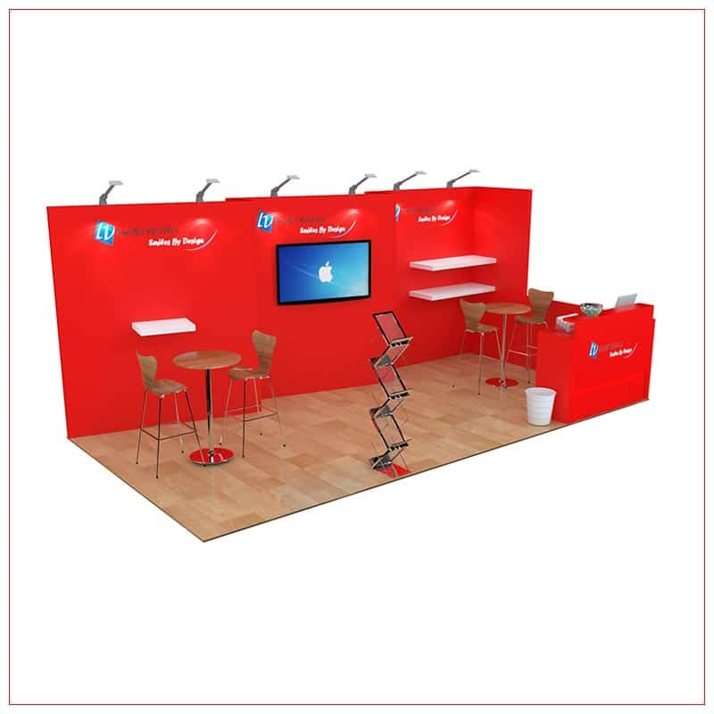 10x20 Trade Show Booth Rental Package 252 - Angle View2 - LV Exhibit Rentals in Las Vegas