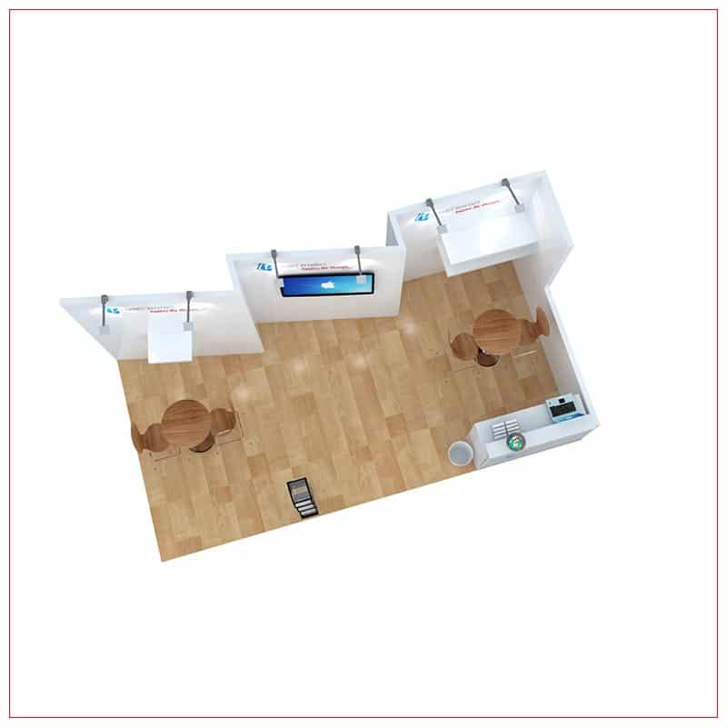 10x20 Trade Show Booth Rental Package 252 - Top-Down View - LV Exhibit Rentals in Las Vegas