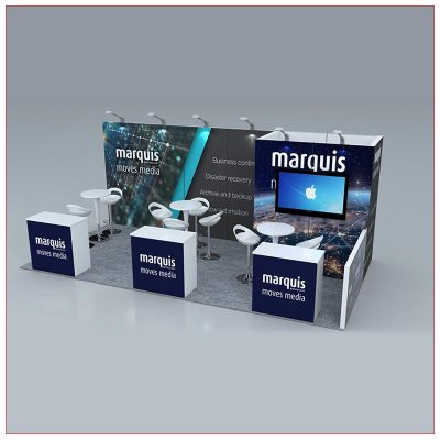 10x20 Trade Show Booth Rental Package 253 - LV Exhibit Rentals in Las Vegas