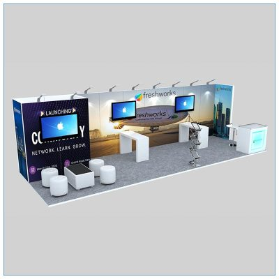 10x30 Trade Show Booth Rental Package 308 - LV Exhibit Rentals in Las Vegas