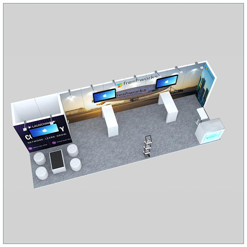 10x30 Trade Show Booth Rental Package 308 - Top-Down View- LV Exhibit Rentals in Las Vegas