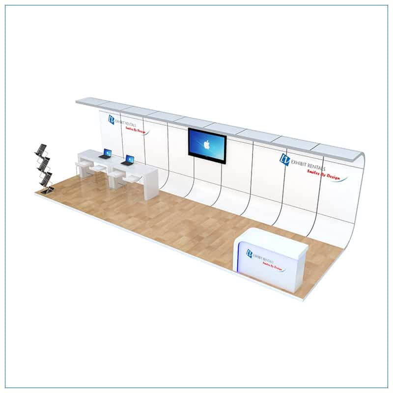 10x30 Trade Show Booth Rental Package 309 - Angle View - LV Exhibit Rentals in Las Vegas