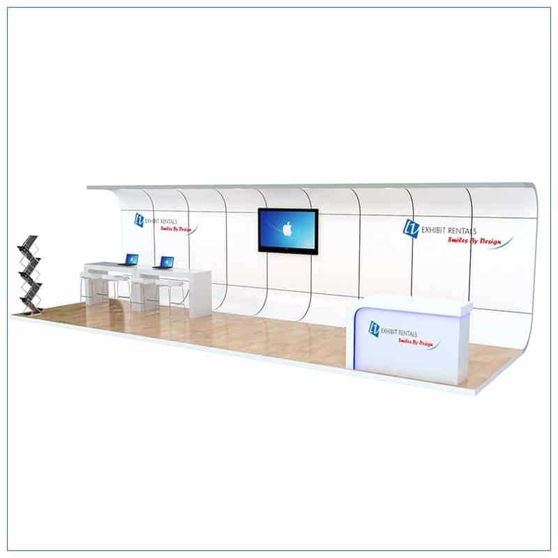 10x30 Trade Show Booth Rental Package 309 - LV Exhibit Rentals in Las Vegas