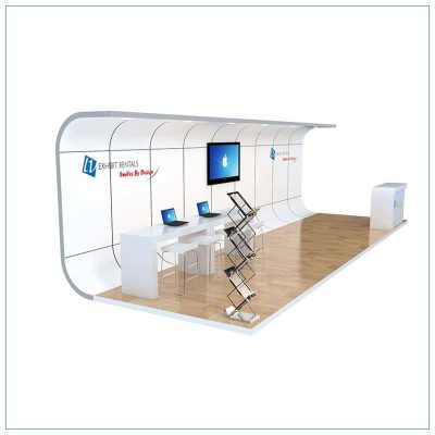 10x30 Trade Show Booth Rental Package 309 - Side View - LV Exhibit Rentals in Las Vegas