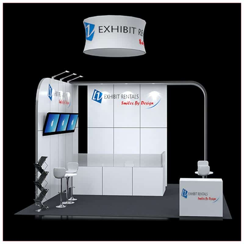 20x20 Trade Show Booth Rental Package 421 - Front View - LV Exhibit Rentals in Las Vegas
