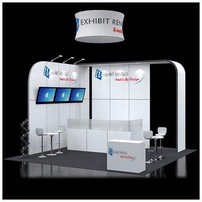 20x20 Trade Show Booth Rental Package 421 - LV Exhibit Rentals in Las Vegas