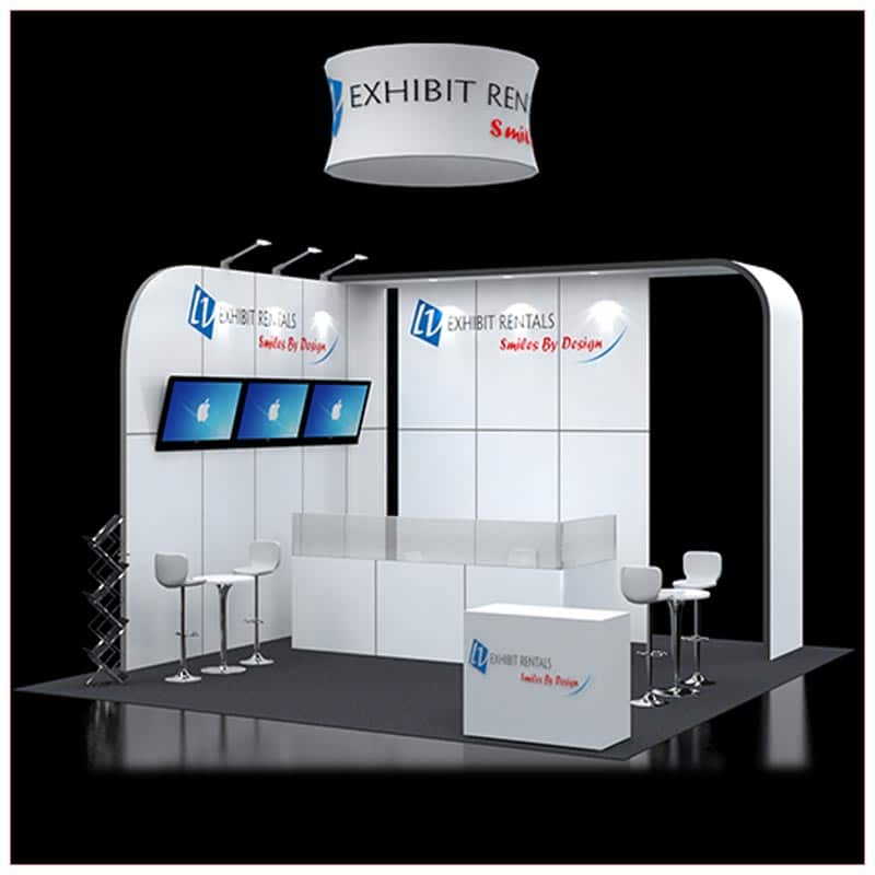 20x20 Trade Show Booth Rental Package 421 - LV Exhibit Rentals in Las Vegas
