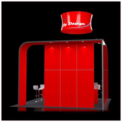 20x20 Trade Show Booth Rental Package 421 - Rear View - LV Exhibit Rentals in Las Vegas