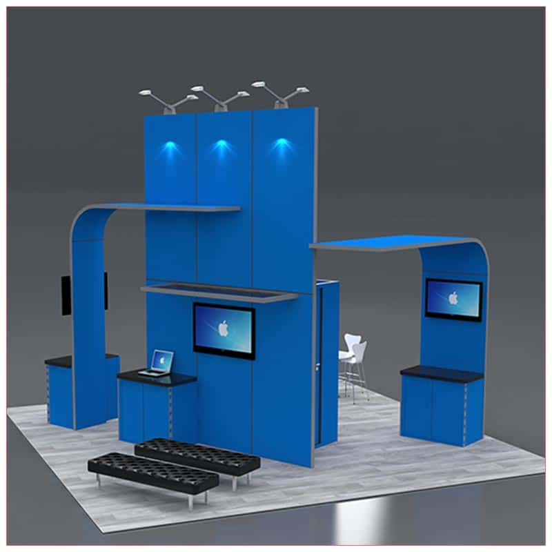 20x20 Trade Show Booth Rental Package 422 Front Angle View- LV Exhibit Rentals in Las Vegas