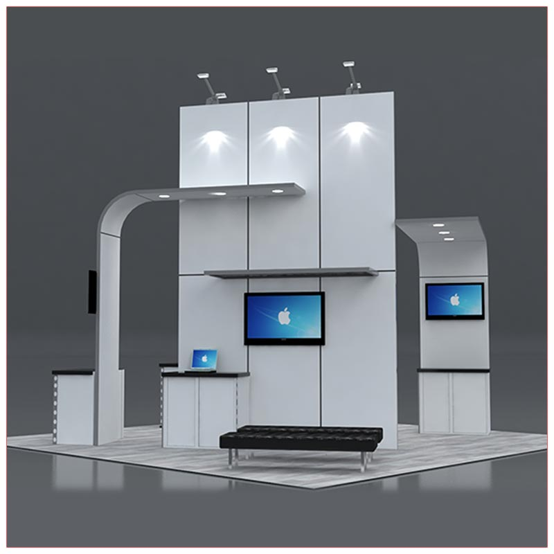 20x20 Trade Show Booth Rental Package 422 Front View- LV Exhibit Rentals in Las Vegas