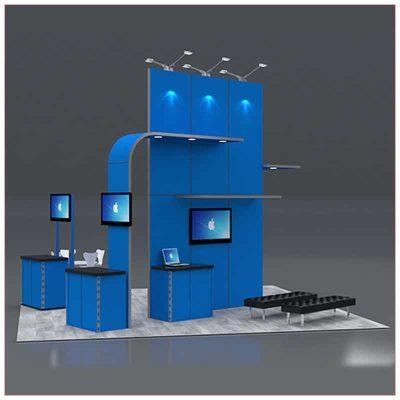 20x20 Trade Show Booth Rental Package 422 - LV Exhibit Rentals in Las Vegas