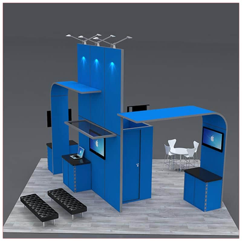 20x20 Trade Show Booth Rental Package 422 Side View- LV Exhibit Rentals in Las Vegas