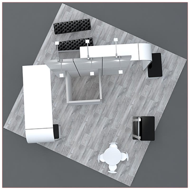 20x20 Trade Show Booth Rental Package 422 - Top-Down View- LV Exhibit Rentals in Las Vegas