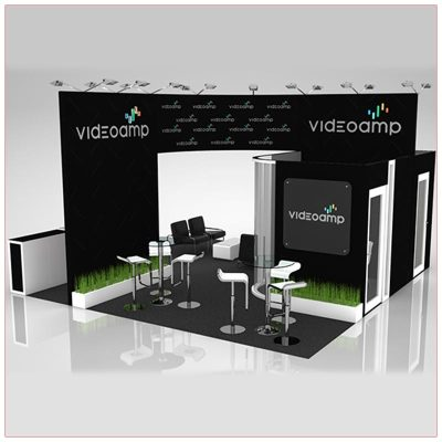 20x20 Trade Show Booth Rental Package 423 - LV Exhibit Rentals in Las Vegas