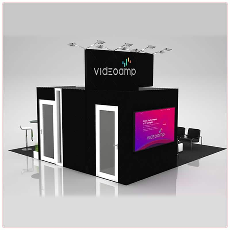 20x20 Trade Show Booth Rental Package 423 - Side View - LV Exhibit Rentals in Las Vegas