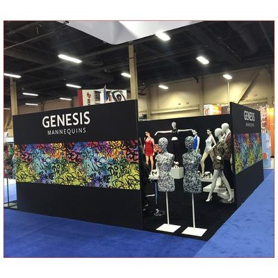 20x20 Trade Show Booth Rental Package 424 - LV Exhibit Rentals in Las Vegas