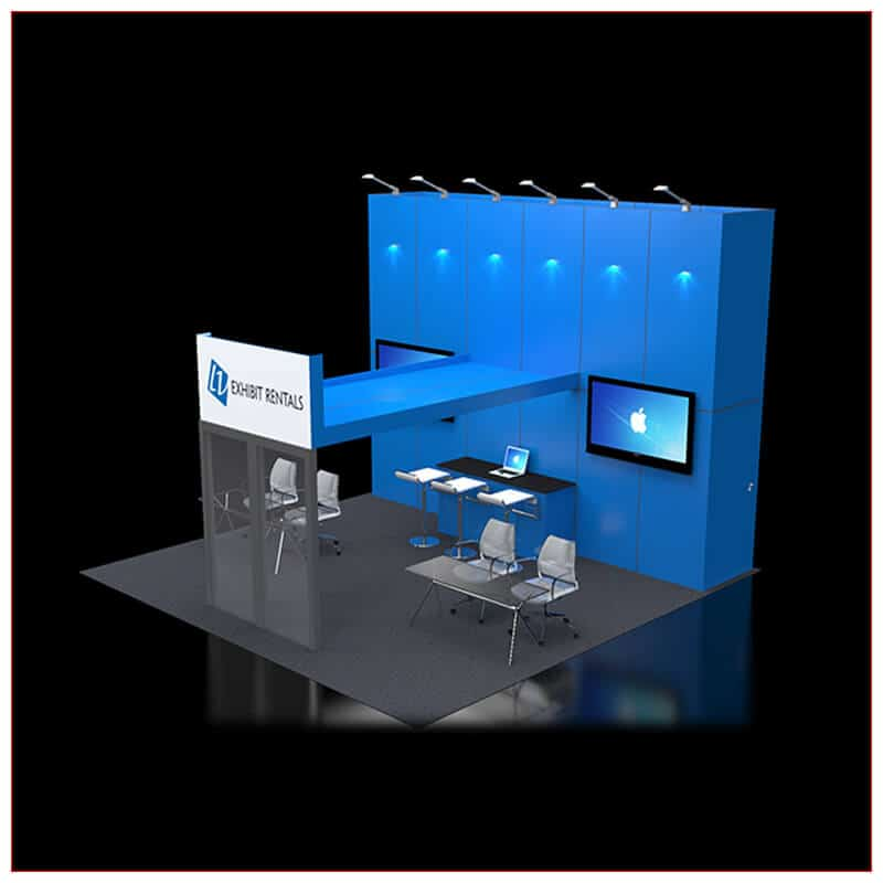 20x20 Trade Show Booth Rental Package 425 - Angle View 2 - LV Exhibit Rentals in Las Vegas