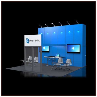 20x20 Trade Show Booth Rental Package 425 - LV Exhibit Rentals in Las Vegas