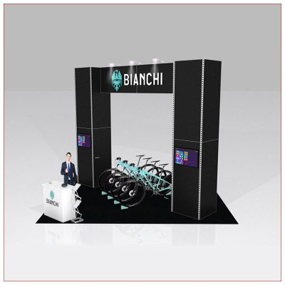 20x20 Trade Show Booth Rental Package 426 - LV Exhibit Rentals in Las Vegas