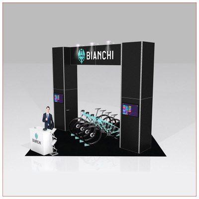 20x20 Trade Show Booth Rental Package 426 - LV Exhibit Rentals in Las Vegas