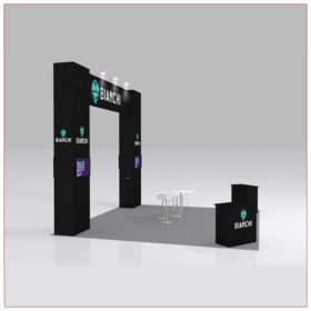 20x20 Trade Show Booth Rental Package 426B - Angle View - LV Exhibit Rentals in Las Vegas