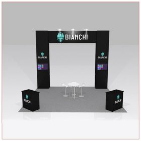 20x20 Trade Show Booth Rental Package 426B - Front View - LV Exhibit Rentals in Las Vegas