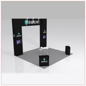 20x20 Trade Show Booth Rental Package 426B - LV Exhibit Rentals in Las Vegas