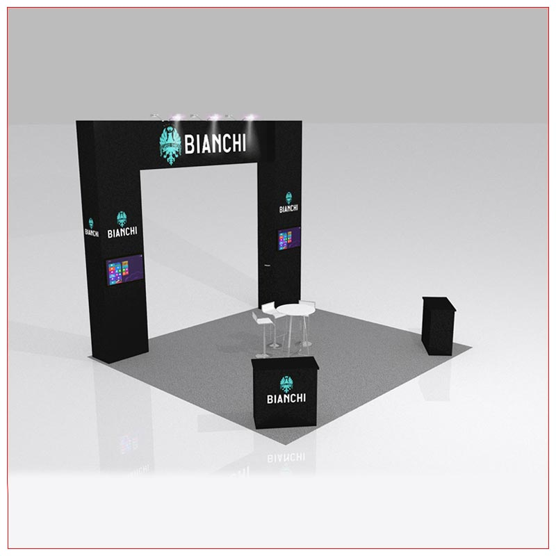 20x20 Trade Show Booth Rental Package 426B - LV Exhibit Rentals in Las Vegas