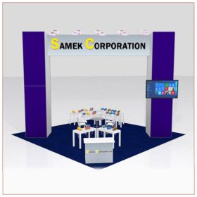 20x20 Trade Show Booth Rental Package 426C - Front View - LV Exhibit Rentals in Las Vegas