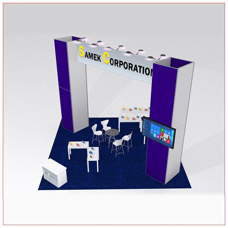 20x20 Trade Show Booth Rental Package 426C - LV Exhibit Rentals in Las Vegas