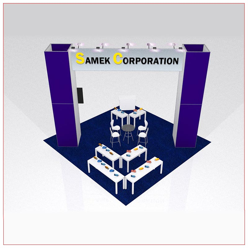 20x20 Trade Show Booth Rental Package 426C - Rear View - LV Exhibit Rentals in Las Vegas
