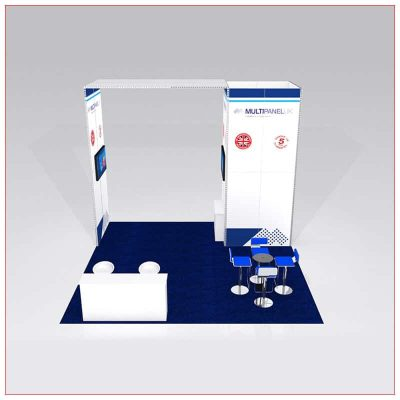 20x20 Trade Show Booth Rental Package 427 - Front View - LV Exhibit Rentals in Las Vegas