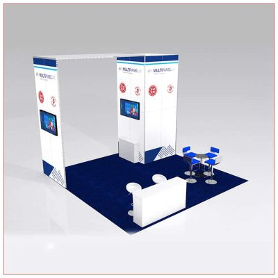 20x20 Trade Show Booth Rental Package 427 - LV Exhibit Rentals in Las Vegas
