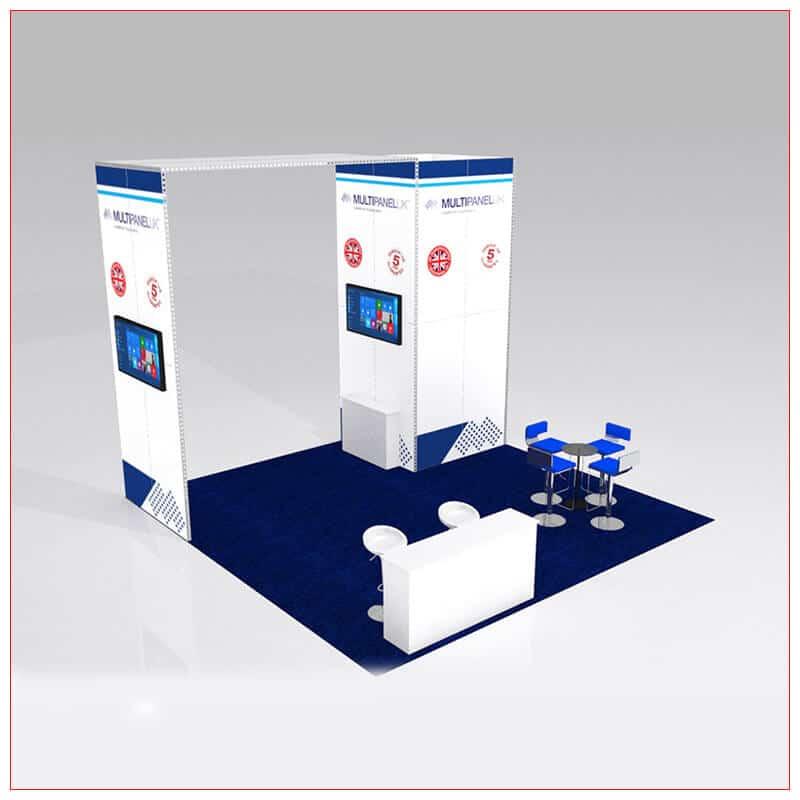 20x20 Trade Show Booth Rental Package 427 - LV Exhibit Rentals in Las Vegas