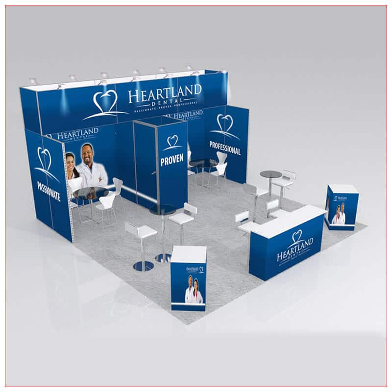 20x20 Trade Show Booth Rental Package 428 - LV Exhibit Rentals in Las Vegas