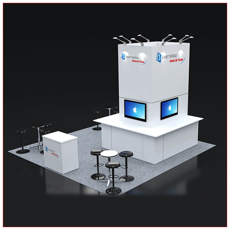 20x20 Trade Show Booth Rental Package 429 - LV Exhibit Rentals in Las Vegas