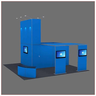 20x20 Trade Show Booth Rental Package 430 - Angle View 2 - LV Exhibit Rentals in Las Vegas