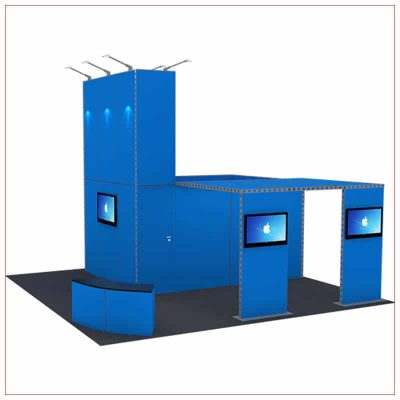 20x20 Trade Show Booth Rental Package 430 - LV Exhibit Rentals in Las Vegas