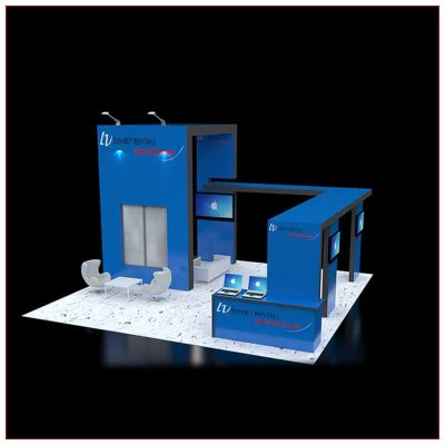 20x20 Trade Show Booth Rental Package 431 - Front View - LV Exhibit Rentals in Las Vegas