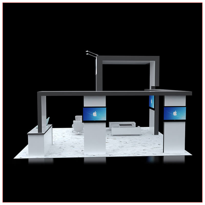 20x20 Trade Show Booth Rental Package 431 - LV Exhibit Rentals in Las Vegas