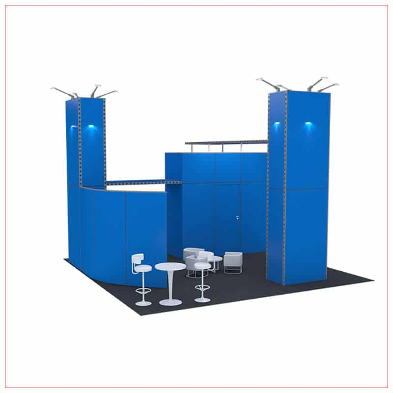 20x20 Trade Show Booth Rental Package 433 - Angle View - LV Exhibit Rentals in Las Vegas
