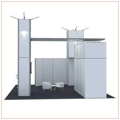 20x20 Trade Show Booth Rental Package 433 - LV Exhibit Rentals in Las Vegas